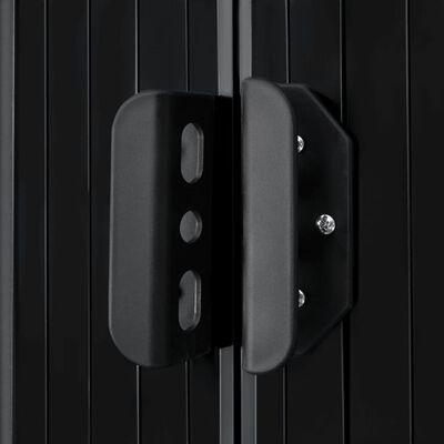 vidaXL Tuinberging 204x132x186 cm staal antraciet