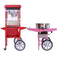 Kukoo Retro Popcorn & Suikerspin Machine Met Kar