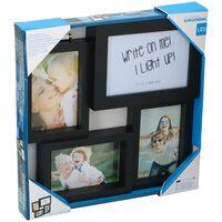 Grundig fotolijst met lichtbox - voor 3 foto's - beschrijfbaar