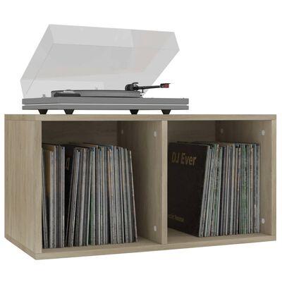 vidaXL Opbergbox voor LP's 71x34x36 cm spaanplaat sonoma eikenkleurig