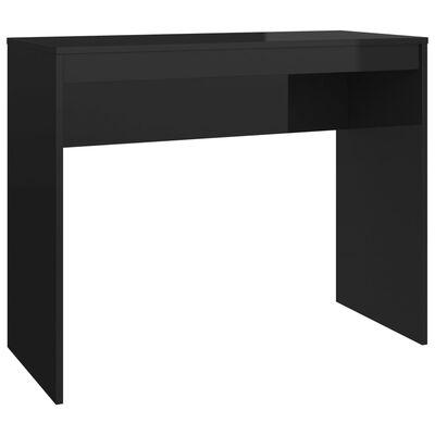 vidaXL Bureau 90x40x72 cm spaanplaat hoogglans zwart
