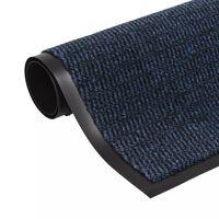 vidaXL Drooglopmat rechthoekig getuft 120x180 cm blauw