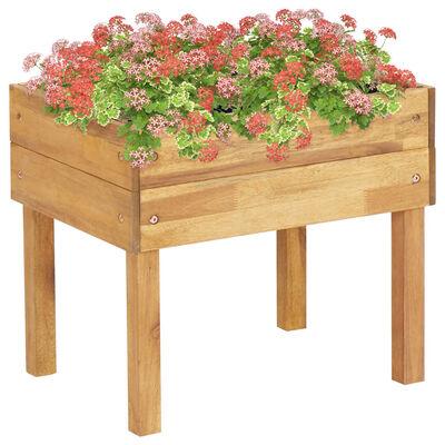 vidaXL Plantenbak verhoogd 50x40x45 cm massief acaciahout,