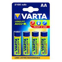 Oplaadbare NiMH Batterij AA 1.2 V 2100 mAh 4-Blister