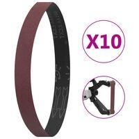 vidaXL Schuurbanden 10 st P60 40x760 mm