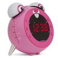 Nikkei Projectiewekker voor kinderen met FM-radio NR280PRABBIT roze