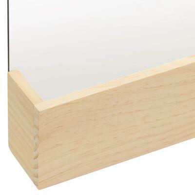 vidaXL Wandspiegel 23x29,5 cm massief grenenhout