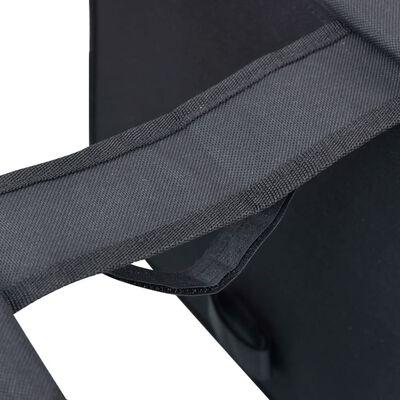 vidaXL Fietstas voor bagagedrager dubbel waterdicht 35 L zwart