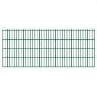 vidaXL Dubbelstaafmatten 2,008x0,83 m 14 m (totale lengte) groen