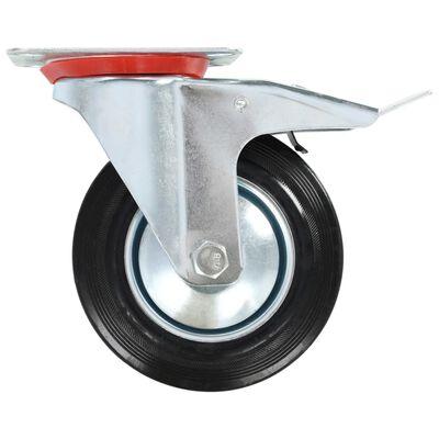 vidaXL 8 st Zwenkwielen 160 mm