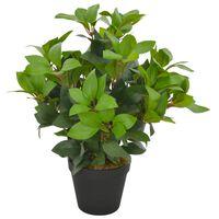 vidaXL Kunstplant met pot laurierboom 40 cm groen