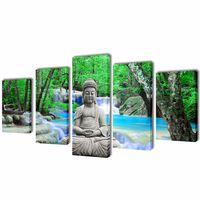 Canvasdoeken Boeddha 100 x 50 cm