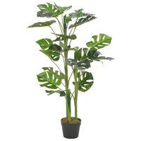 vidaXL Kunstplant met pot monstera 100 cm groen
