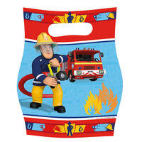 Amscan uitdeelzakjes Brandweerman Sam 8 stuks rood/blauw