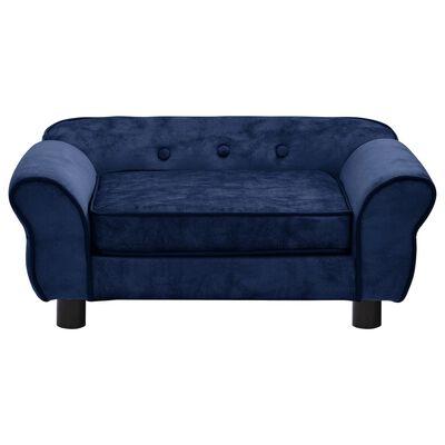 vidaXL Hondenbank 72x45x30 cm pluche blauw