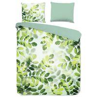 Good Morning Dekbedovertrek SUNNY LEAVES 240x200/220 cm groen