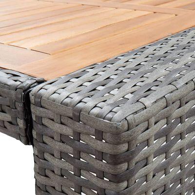 vidaXL 9-delige Tuinbarset poly rattan en acaciahout grijs