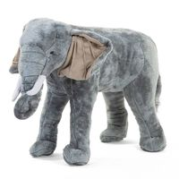 CHILDHOME Speelgoedolifant staand 77x33x55 cm grijs