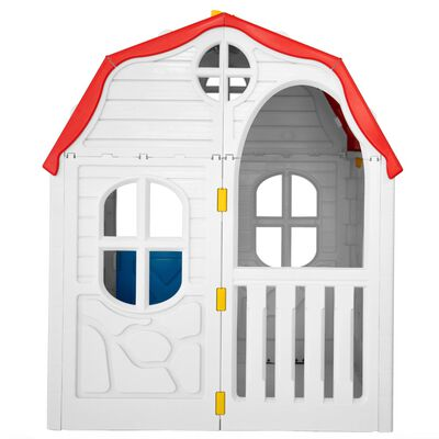 vidaXL Speelhuis inklapbaar met deuren en ramen