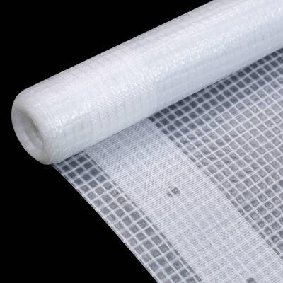 vidaXL Leno dekzeil 260 g/m² 2x2 m wit