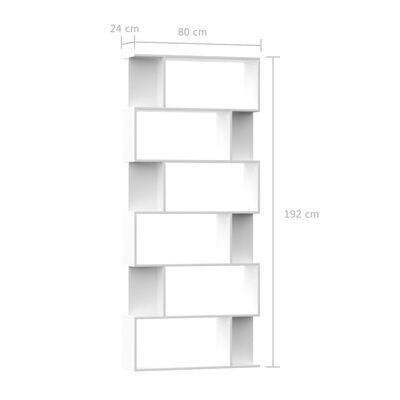 vidaXL Boekenkast/kamerscherm 80x24x192 cm spaanplaat wit