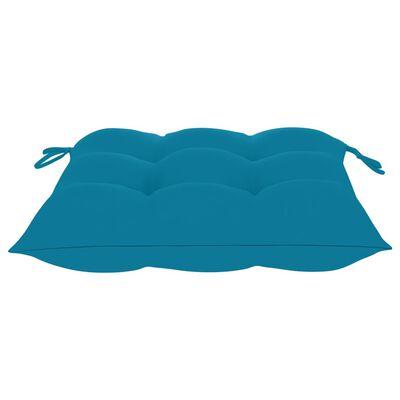 vidaXL Tuinstoelen stapelbaar 4 st met kussens massief teakhout