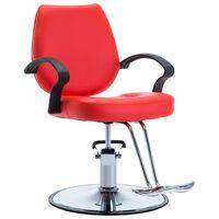 vidaXL Kappersstoel kunstleer rood