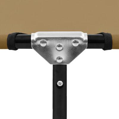 vidaXL Ligbed inklapbaar staal taupe
