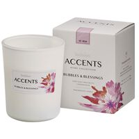 Bolsius Accents scented glass Bubbles & Blessings