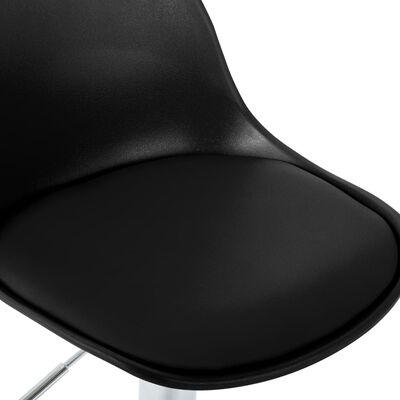 vidaXL Barstoelen 2 st kunstleer zwart