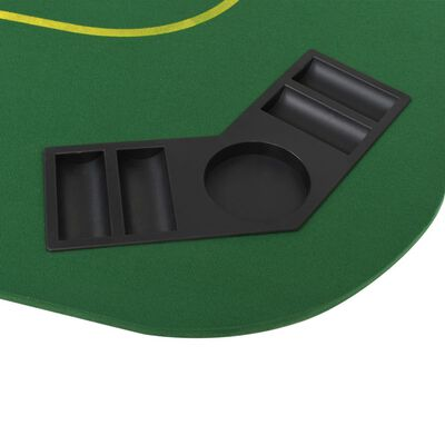 vidaXL Poker tafelblad voor 8 spelers 4-voudig inklapbaar groen