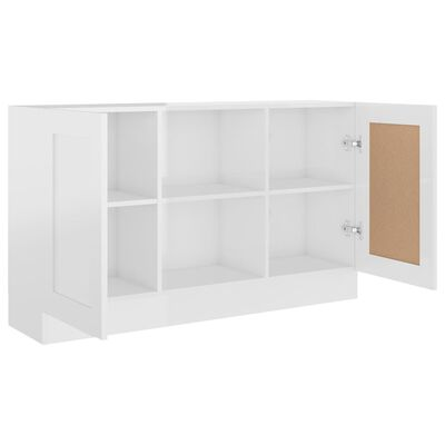 vidaXL Dressoir 120x30,5x70 cm spaanplaat hoogglans wit