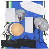vidaXL Fotostudio verlichtingsset