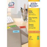 Avery gekleurde universele etiketten ft 105 x 148 mm (b x h), 400 s...