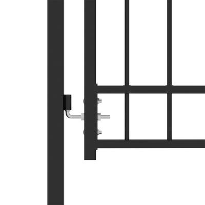 vidaXL Poort met speerpunten 100x200 cm staal zwart