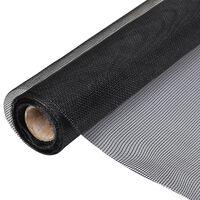 vidaXL Gaas 150x1000 cm glasvezel zwart