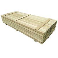 vidaXL 96 st Schuttingpalen 6x6x240 cm geïmpregneerd grenenhout