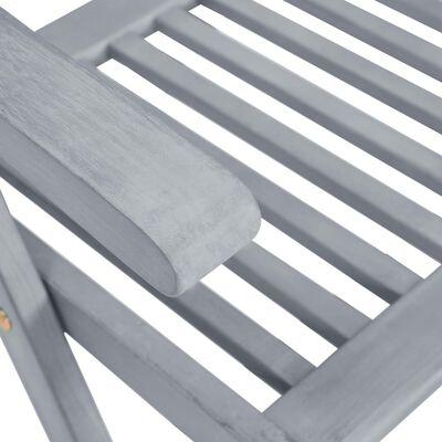 vidaXL Tuinstoelen 8 st verstelbaar massief acaciahout grijs