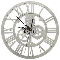 vidaXL Wandklok 30 cm acryl zilverkleurig