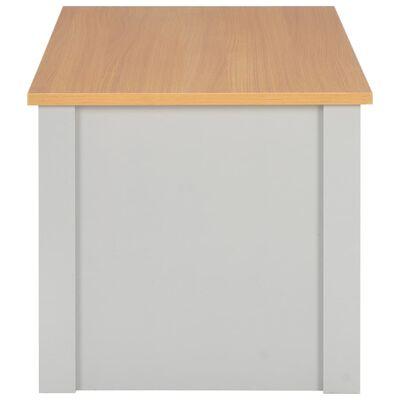 vidaXL Salontafel 105x47x42 cm grijs
