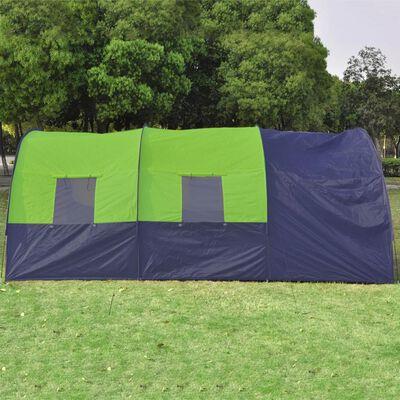 vidaXL Tent 6-persoons polyester blauw en groen