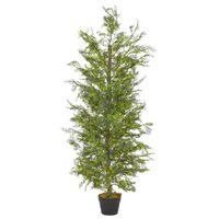 vidaXL Kunstplant met pot cipresboom 150 cm groen
