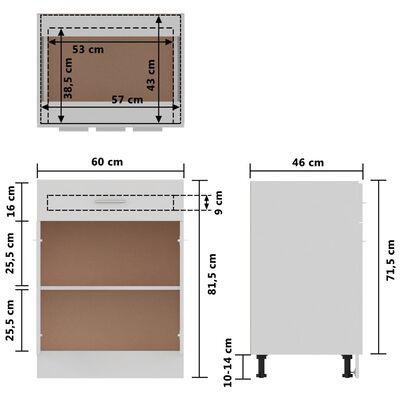 vidaXL Onderkast met lade 60x46x81,5 cm spaanplaat wit