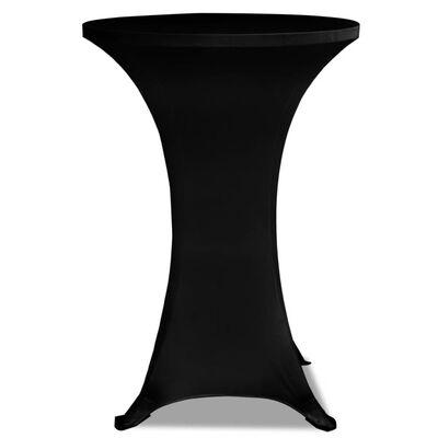 vidaXL Statafelhoezen 2 st stretch ø80 cm zwart