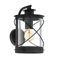 EGLO Buitenwandlamp Hilburn 20x20x28 cm zwart