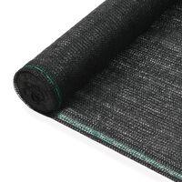 vidaXL Tennisscherm 1,4x25 m HDPE zwart