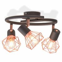 vidaXL Plafondlamp met 3 filament LED-lampen 12 W