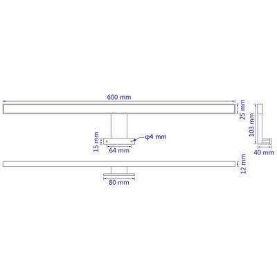 vidaXL Spiegellamp 8 W warm wit