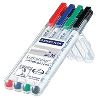Staedtler whiteboard pen Lumocolor Pen, opstelbare box met 4 stuks ...