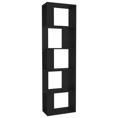 vidaXL Boekenkast/kamerscherm 45x24x159 cm spaanplaat zwart